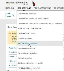 Amazon Seller Lagerbestandsdatei Herunterladen
